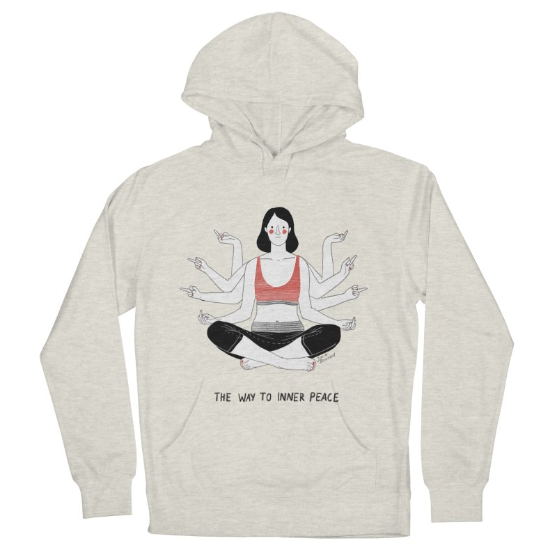 Inner Peace Women's French Terry Pullover Hoody by juliabernhard's Artist Shop