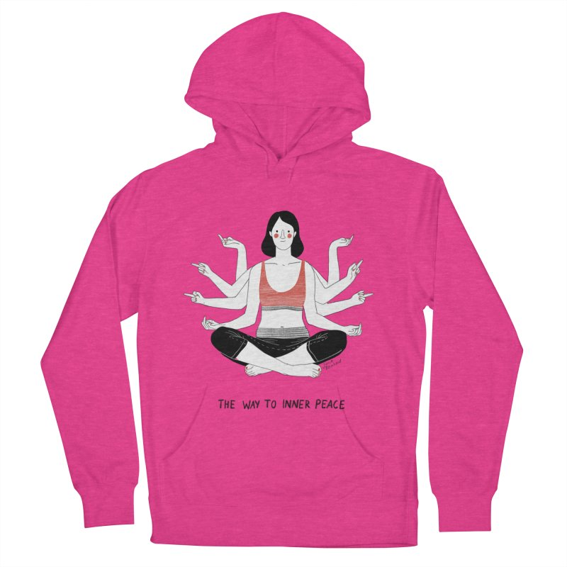 Inner Peace Women's French Terry Pullover Hoody by Julia Bernhard