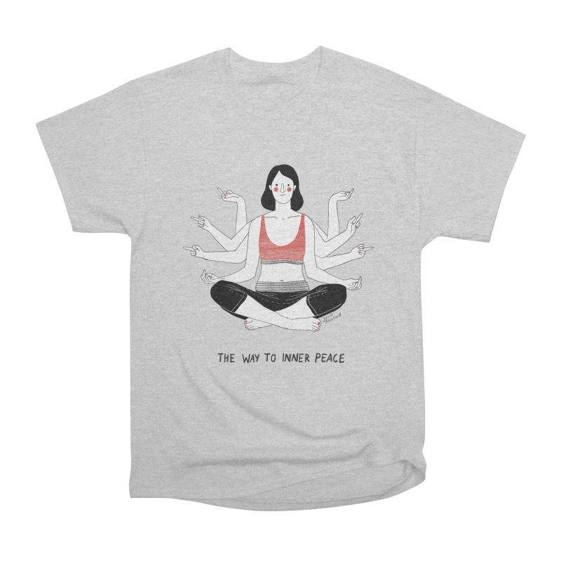Inner Peace Men's Heavyweight T-Shirt by juliabernhard's Artist Shop