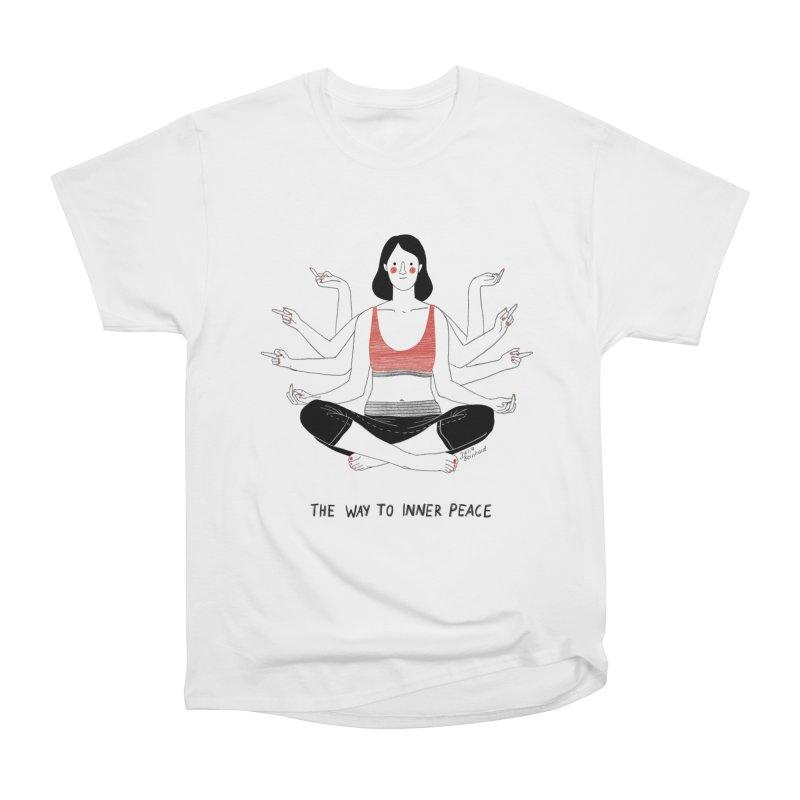 Inner Peace Women's Heavyweight Unisex T-Shirt by juliabernhard's Artist Shop