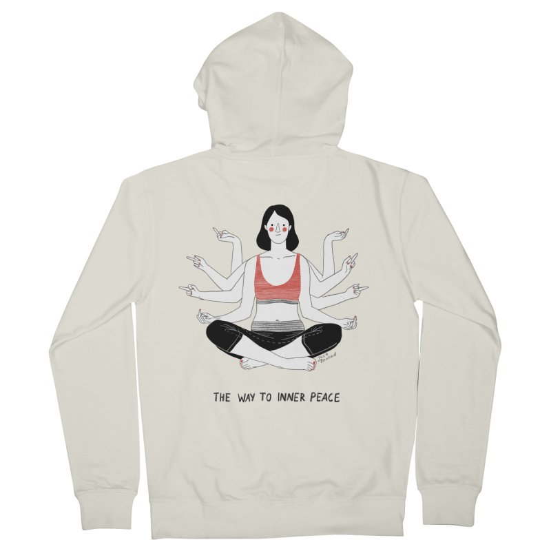 Inner Peace Women's French Terry Zip-Up Hoody by juliabernhard's Artist Shop