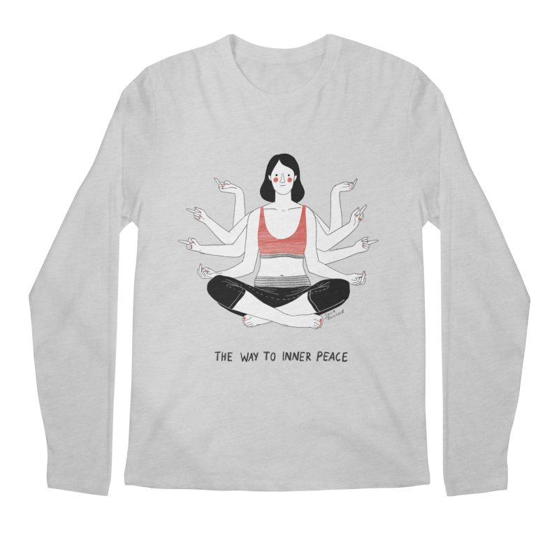 Inner Peace Men's Regular Longsleeve T-Shirt by Julia Bernhard