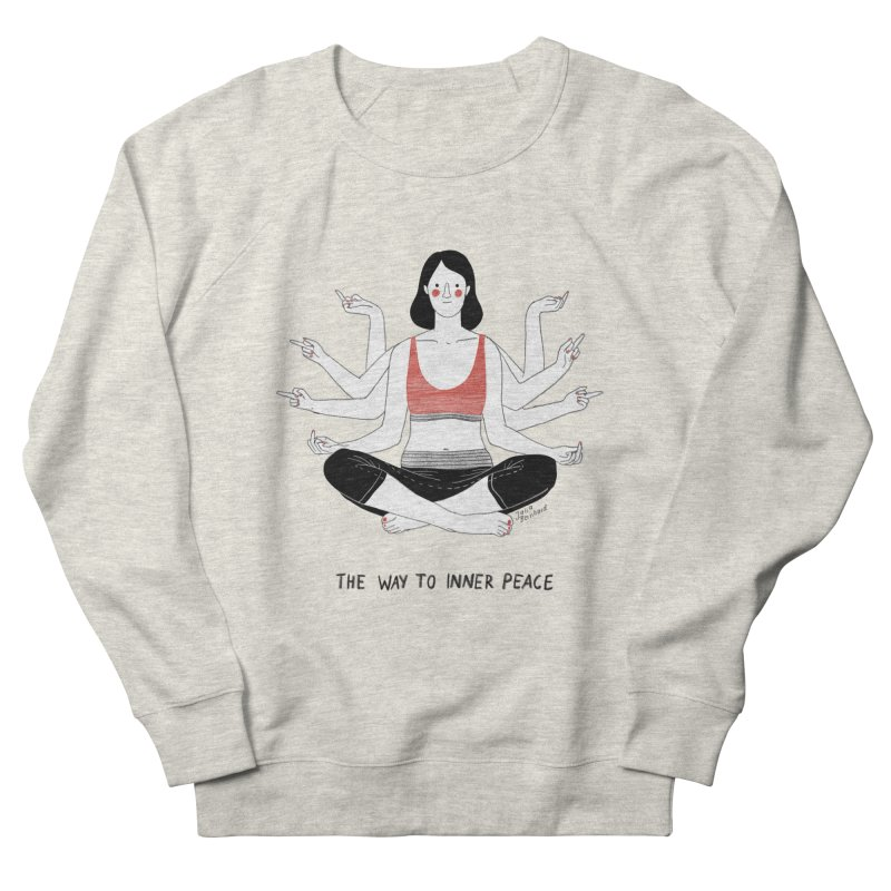 Inner Peace Men's French Terry Sweatshirt by Julia Bernhard