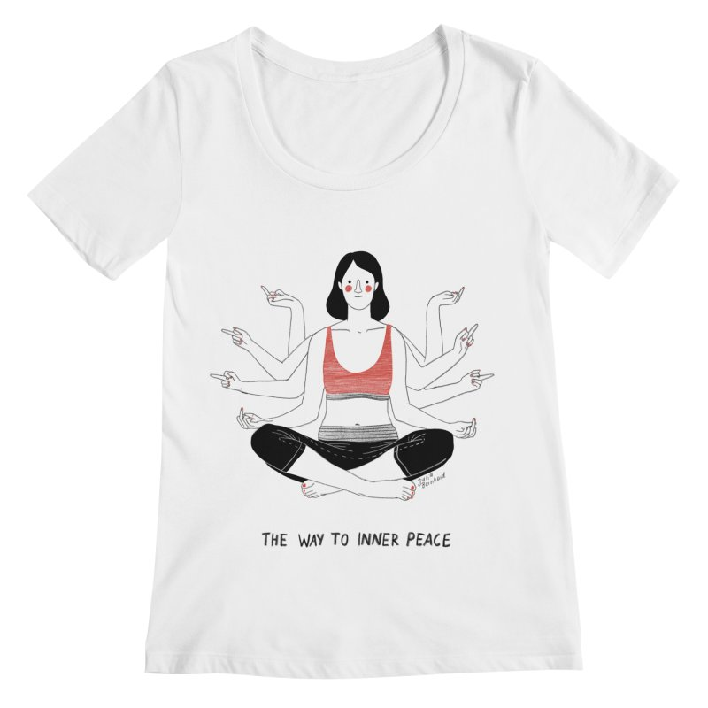 Inner Peace Women's Regular Scoop Neck by Julia Bernhard