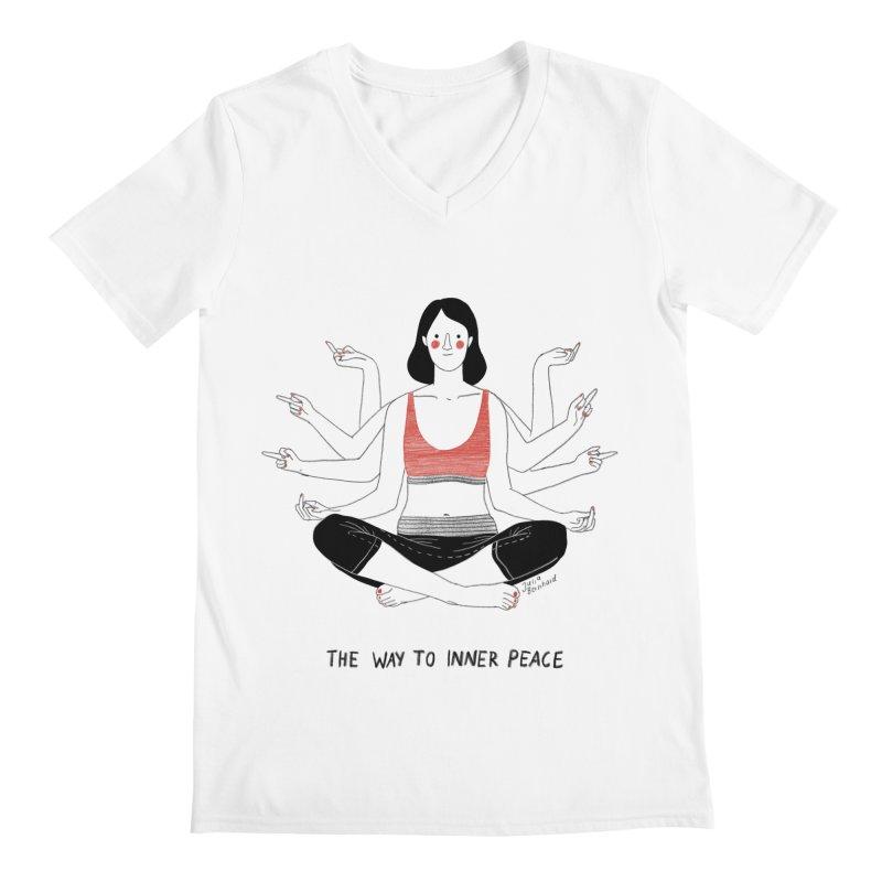 Inner Peace Men's Regular V-Neck by juliabernhard's Artist Shop