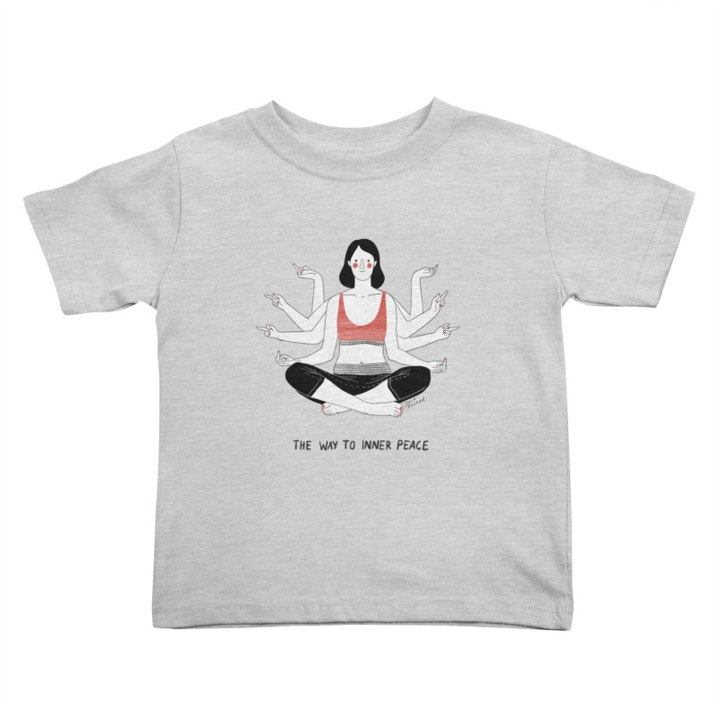 Inner Peace Kids Toddler T-Shirt by juliabernhard's Artist Shop