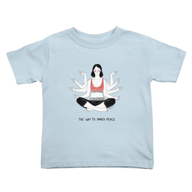Inner Peace Kids Toddler T-Shirt by juliabernhard's Artist Shop
