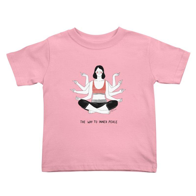 Inner Peace Kids Toddler T-Shirt by Julia Bernhard