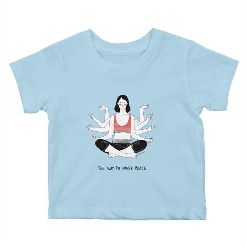 Inner Peace Kids Baby T-Shirt by juliabernhard's Artist Shop