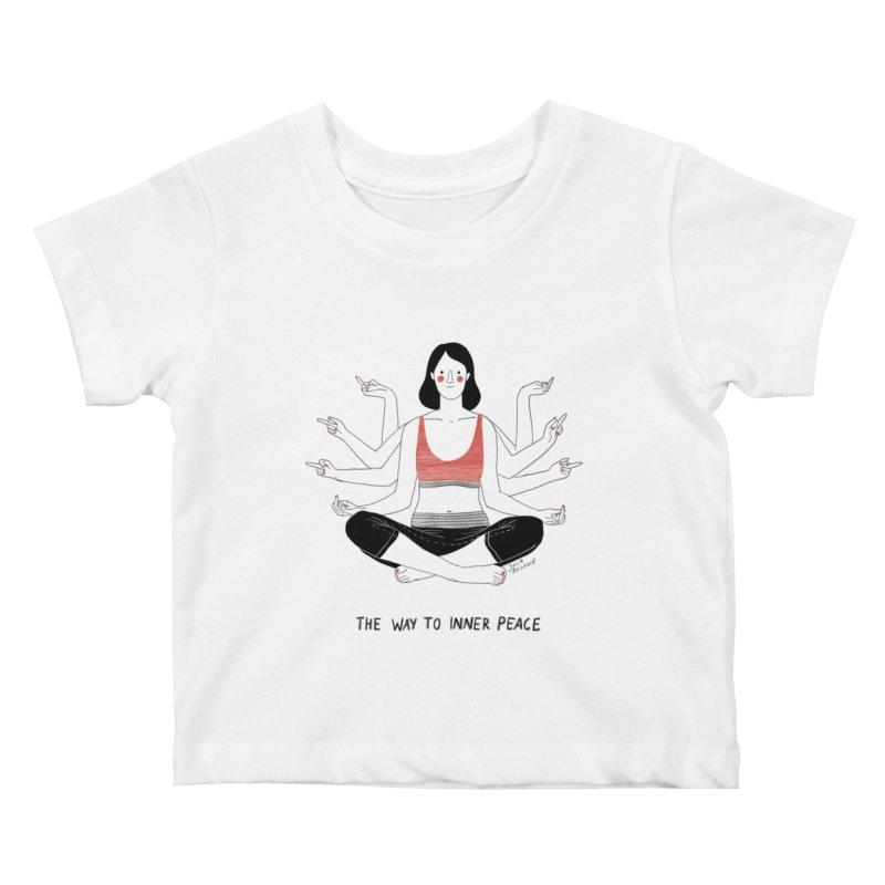 Inner Peace Kids Baby T-Shirt by juliabernhard's Artist Shop