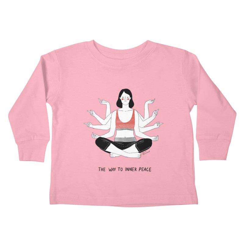Inner Peace Kids Toddler Longsleeve T-Shirt by juliabernhard's Artist Shop
