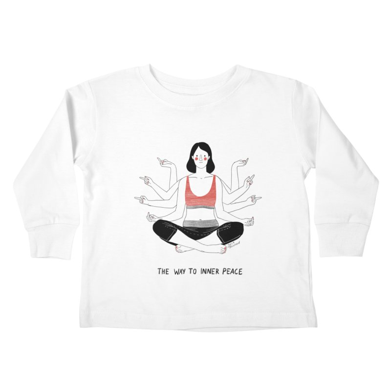 Inner Peace Kids Toddler Longsleeve T-Shirt by Julia Bernhard