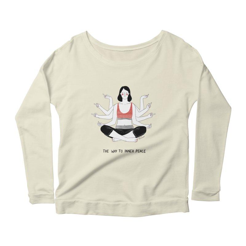 Inner Peace Women's Scoop Neck Longsleeve T-Shirt by juliabernhard's Artist Shop