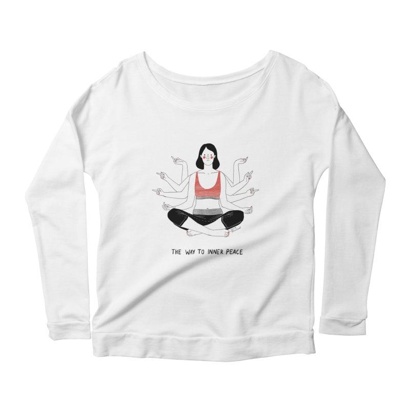 Inner Peace Women's Scoop Neck Longsleeve T-Shirt by Julia Bernhard