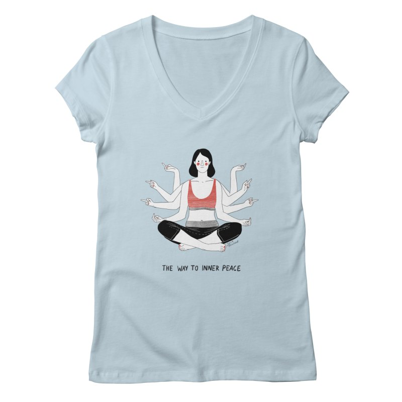 Inner Peace Women's Regular V-Neck by juliabernhard's Artist Shop