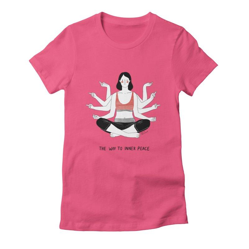 Inner Peace Women's Fitted T-Shirt by juliabernhard's Artist Shop