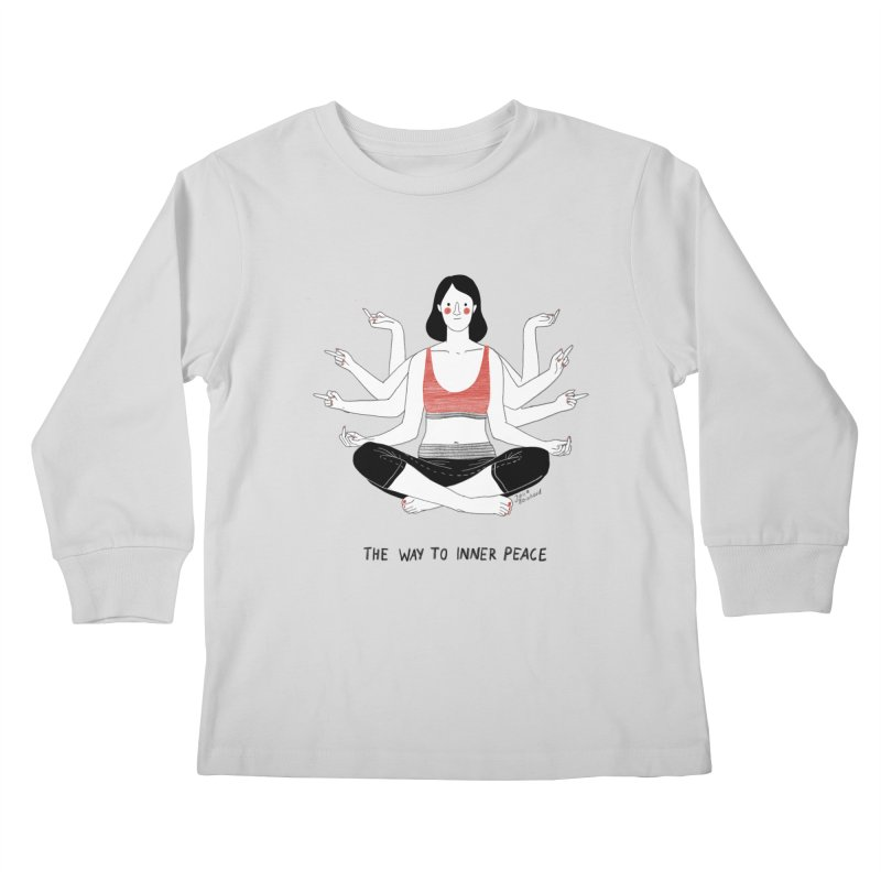 Inner Peace Kids Longsleeve T-Shirt by juliabernhard's Artist Shop