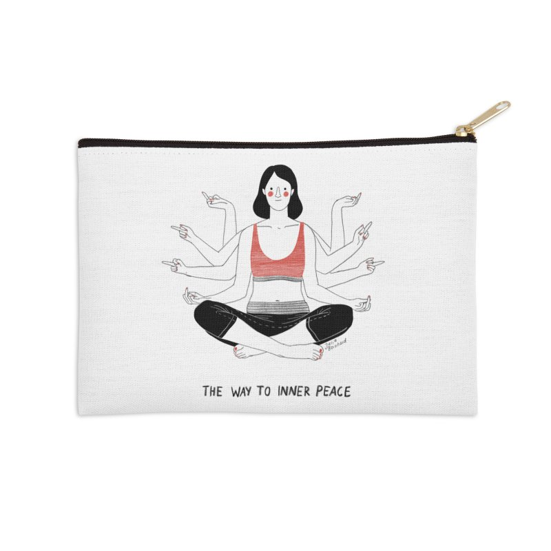 Inner Peace Accessories Zip Pouch by Julia Bernhard