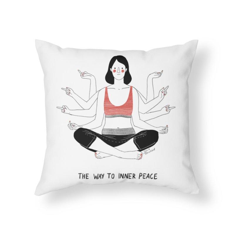Inner Peace Home Throw Pillow by juliabernhard's Artist Shop