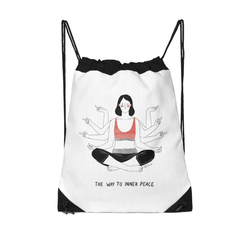 Inner Peace Accessories Drawstring Bag Bag by Julia Bernhard