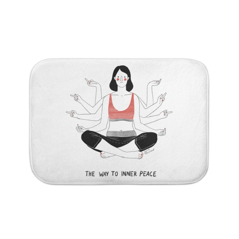 Inner Peace Home Bath Mat by Julia Bernhard