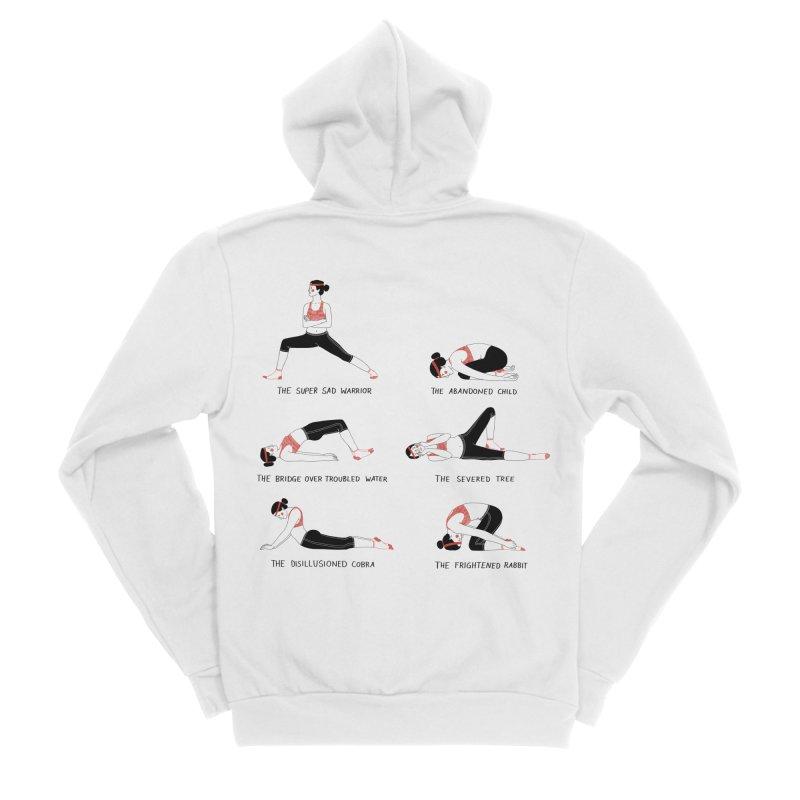 Yoga for Sad People Men's Sponge Fleece Zip-Up Hoody by juliabernhard's Artist Shop