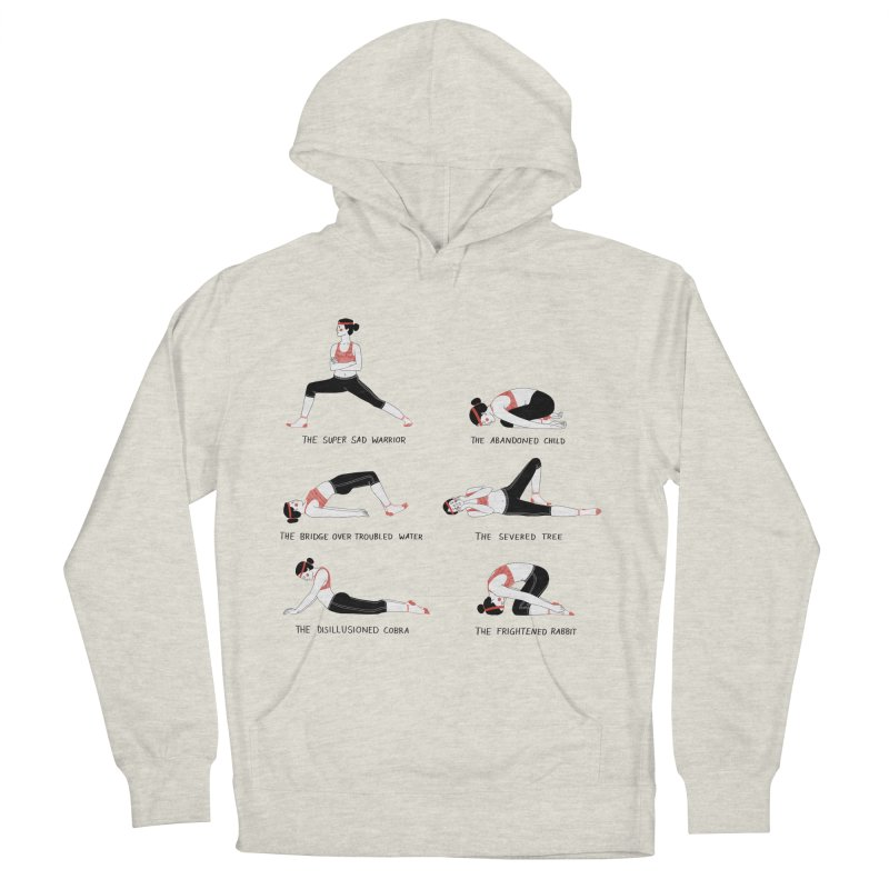 Yoga for Sad People Men's French Terry Pullover Hoody by juliabernhard's Artist Shop