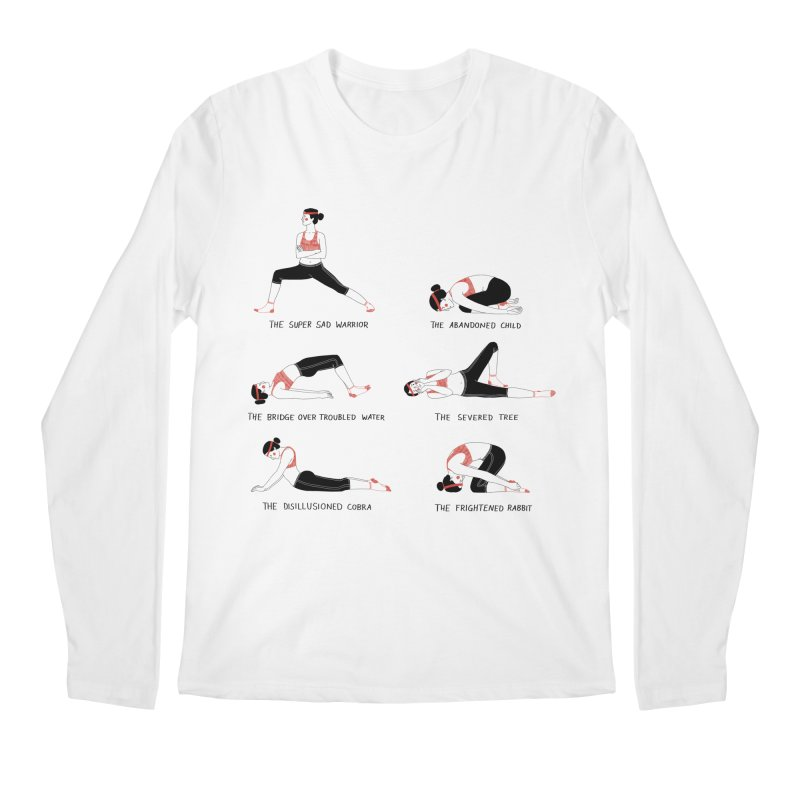 Yoga for Sad People Men's Regular Longsleeve T-Shirt by Julia Bernhard