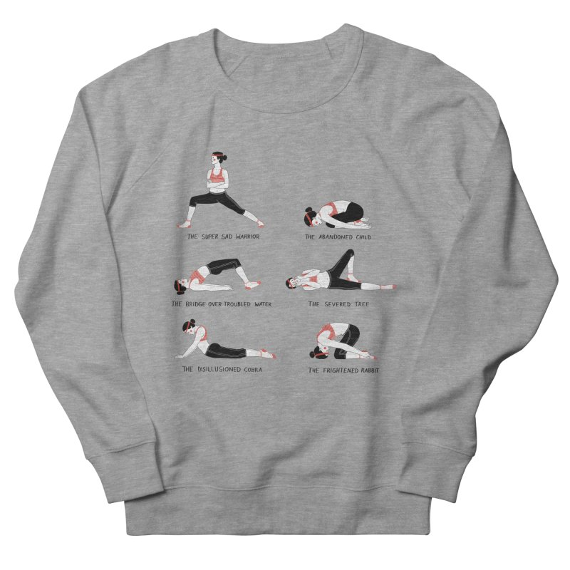 Yoga for Sad People Men's French Terry Sweatshirt by Julia Bernhard