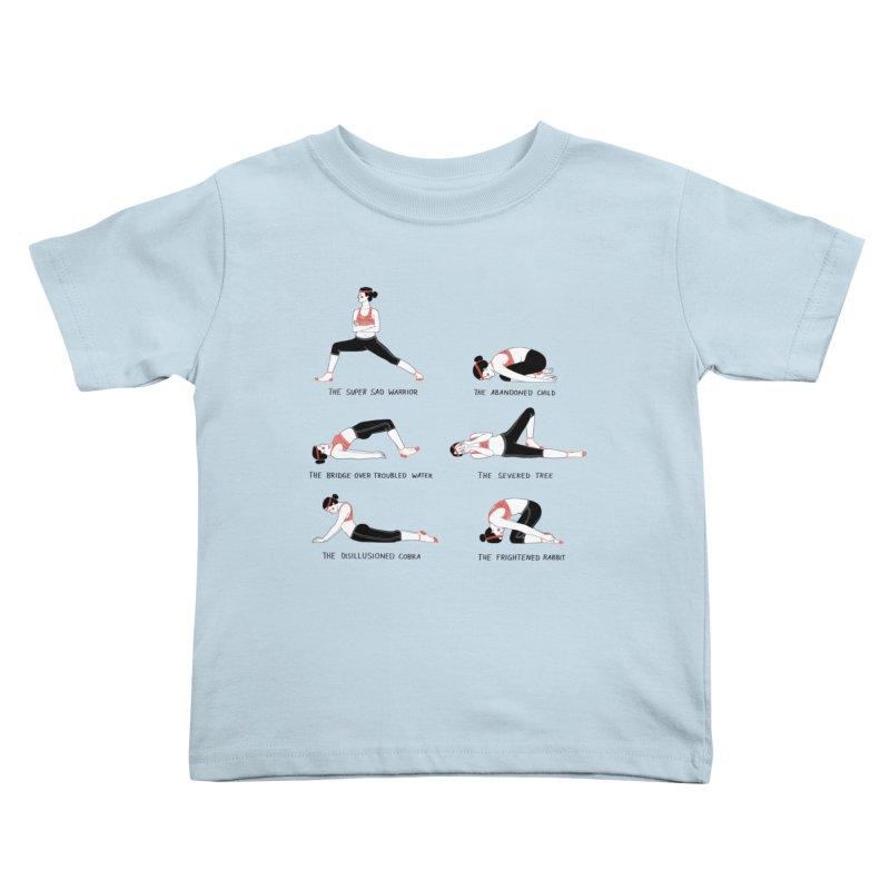 Yoga for Sad People Kids Toddler T-Shirt by Julia Bernhard