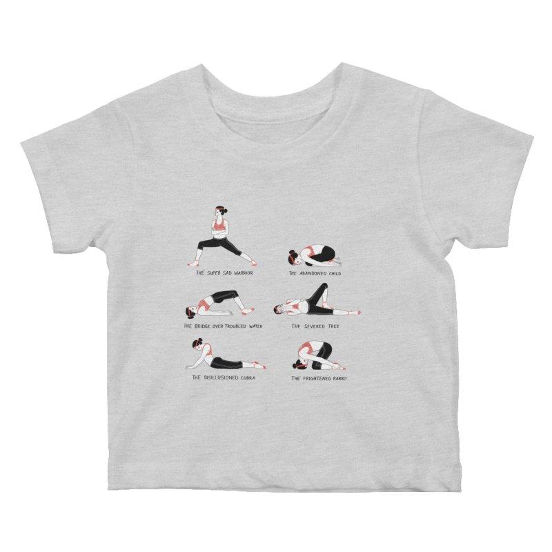 Yoga for Sad People Kids Baby T-Shirt by juliabernhard's Artist Shop