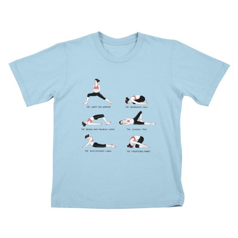 Yoga for Sad People Kids T-Shirt by juliabernhard's Artist Shop