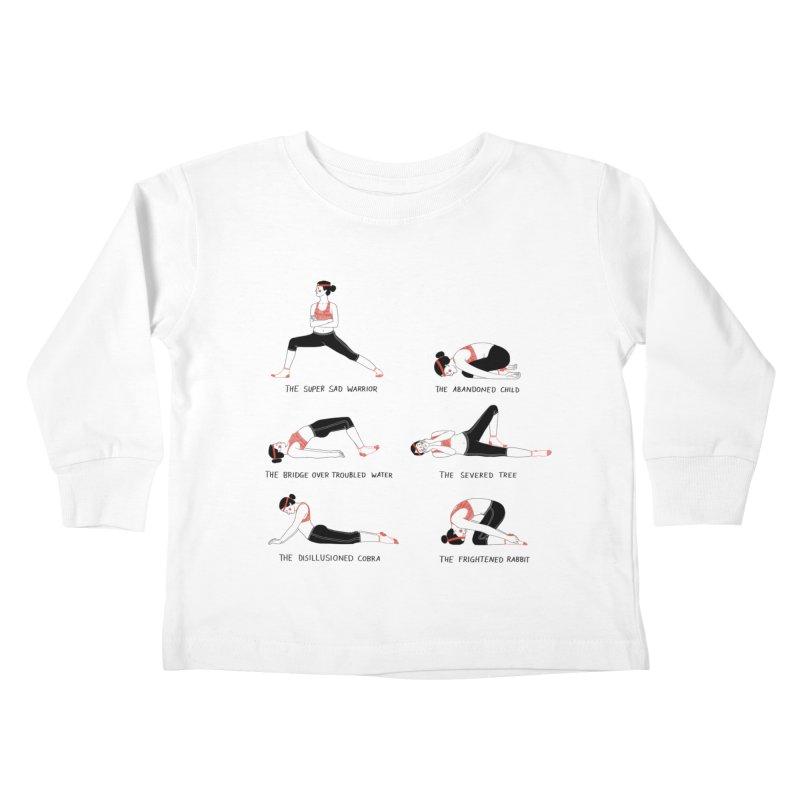 Yoga for Sad People Kids Toddler Longsleeve T-Shirt by juliabernhard's Artist Shop