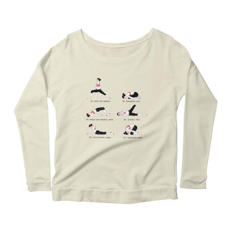 Yoga for Sad People Women's Scoop Neck Longsleeve T-Shirt by juliabernhard's Artist Shop