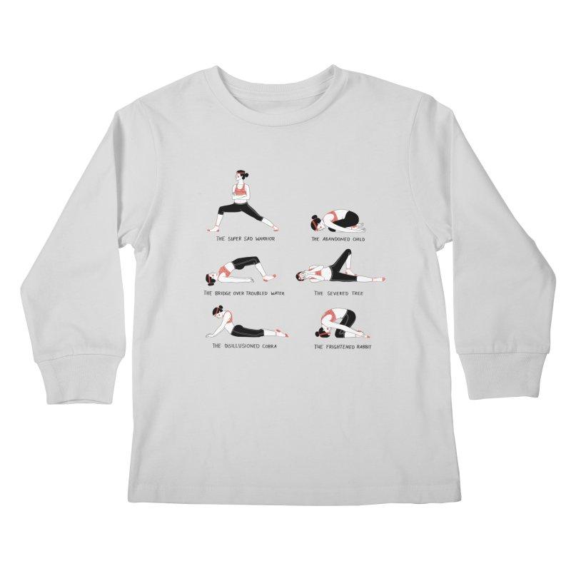 Yoga for Sad People Kids Longsleeve T-Shirt by juliabernhard's Artist Shop