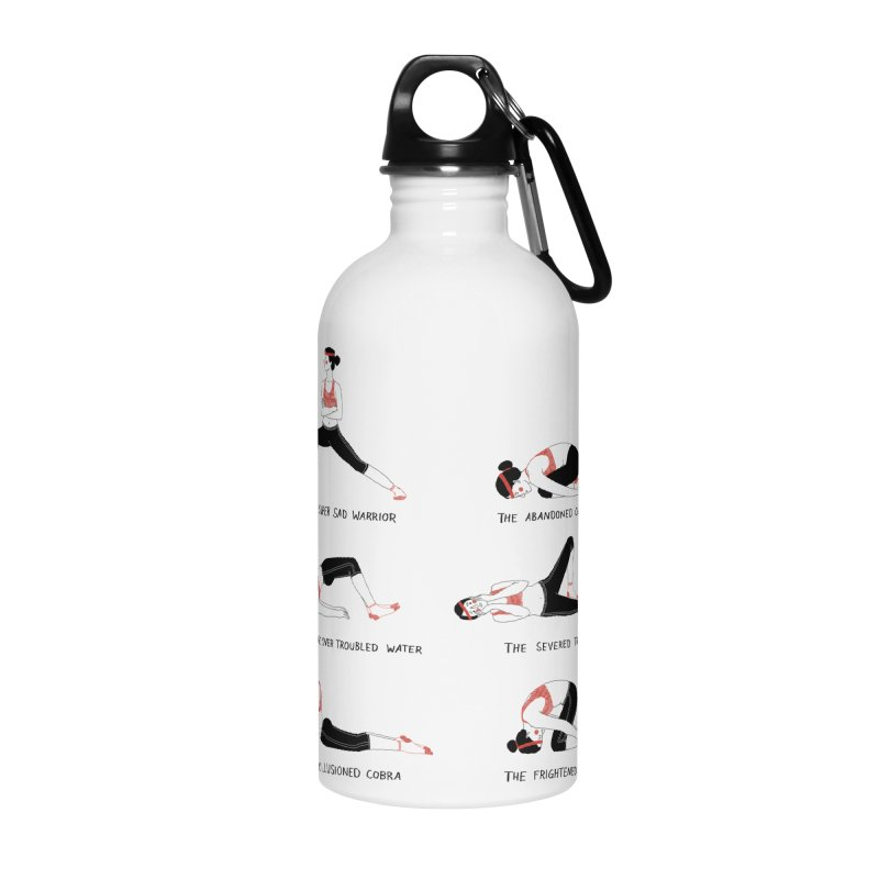 Yoga for Sad People Accessories Water Bottle by juliabernhard's Artist Shop