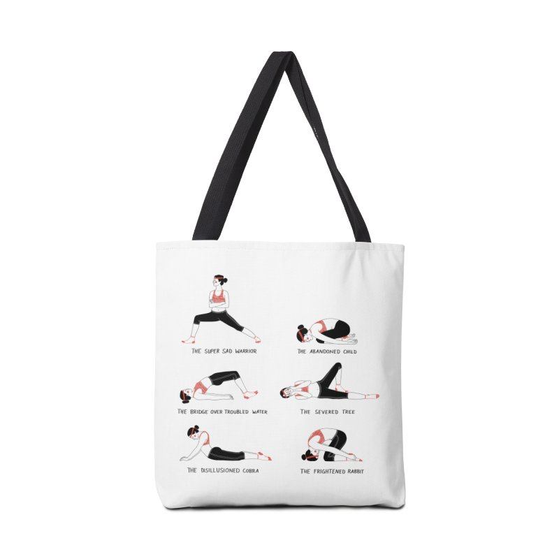 Yoga for Sad People Accessories Bag by juliabernhard's Artist Shop