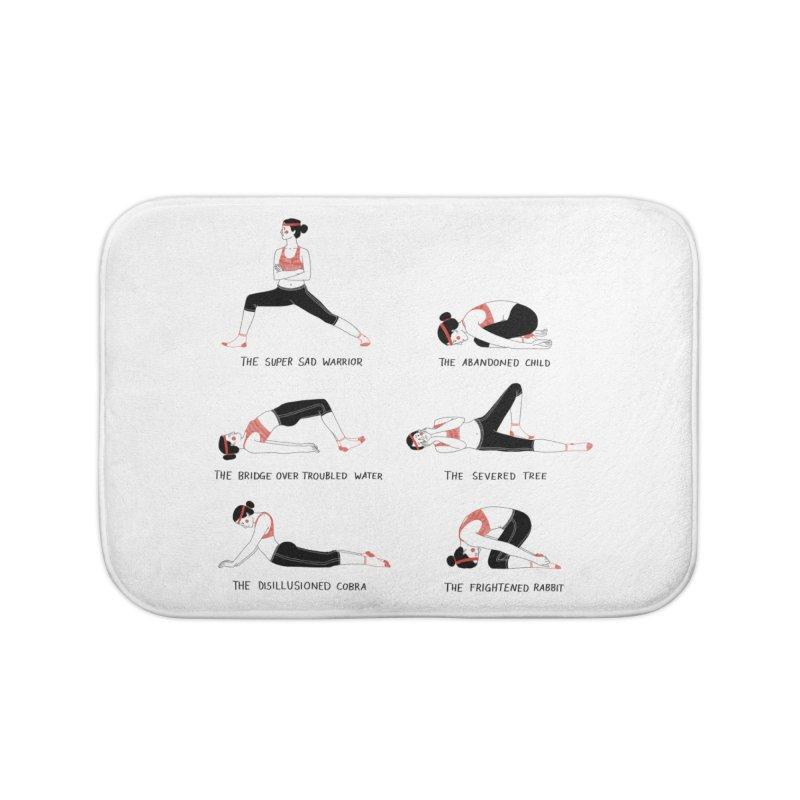 Yoga for Sad People Home Bath Mat by Julia Bernhard