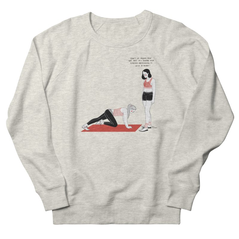 Heartless Cardio Women's French Terry Sweatshirt by juliabernhard's Artist Shop