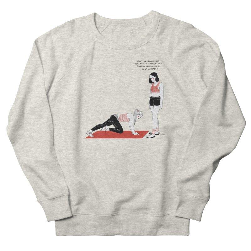 Heartless Cardio Men's French Terry Sweatshirt by juliabernhard's Artist Shop