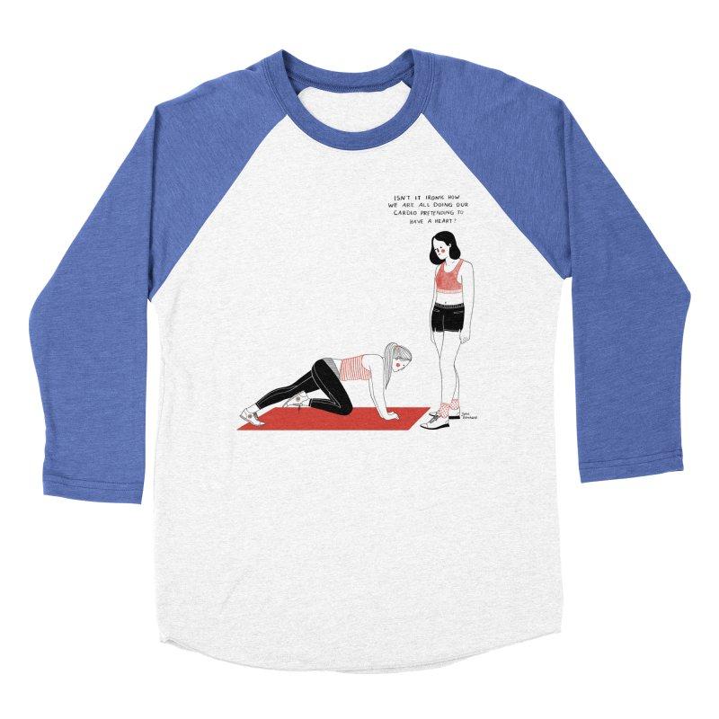 Heartless Cardio Women's Baseball Triblend Longsleeve T-Shirt by Julia Bernhard