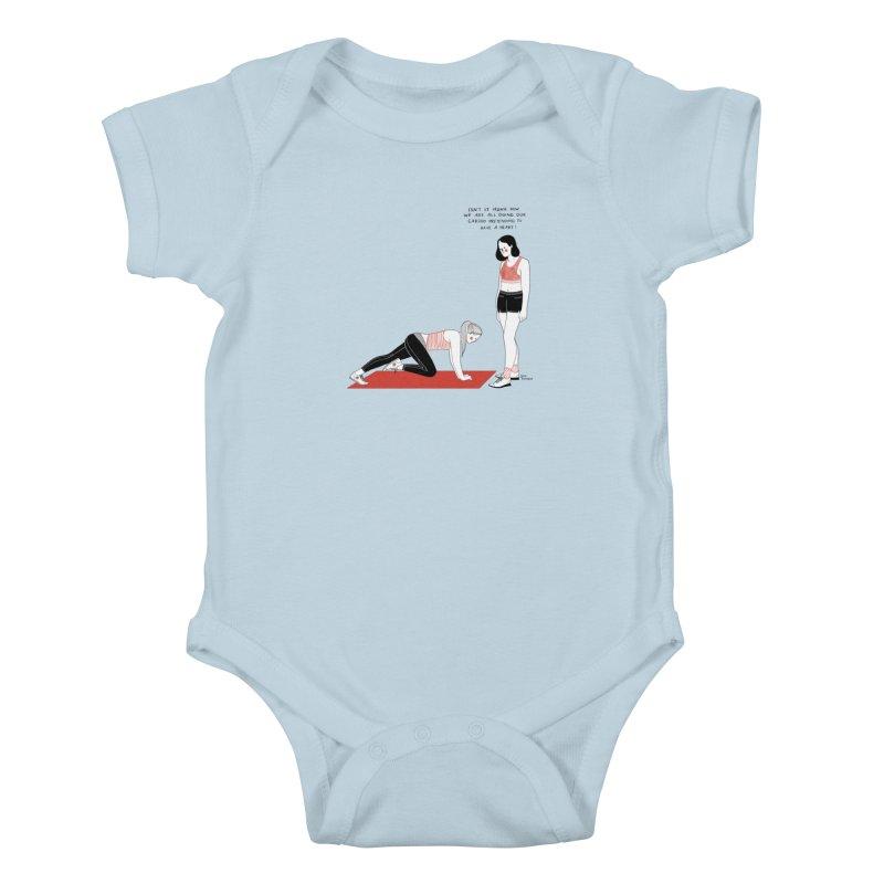 Heartless Cardio Kids Baby Bodysuit by Julia Bernhard