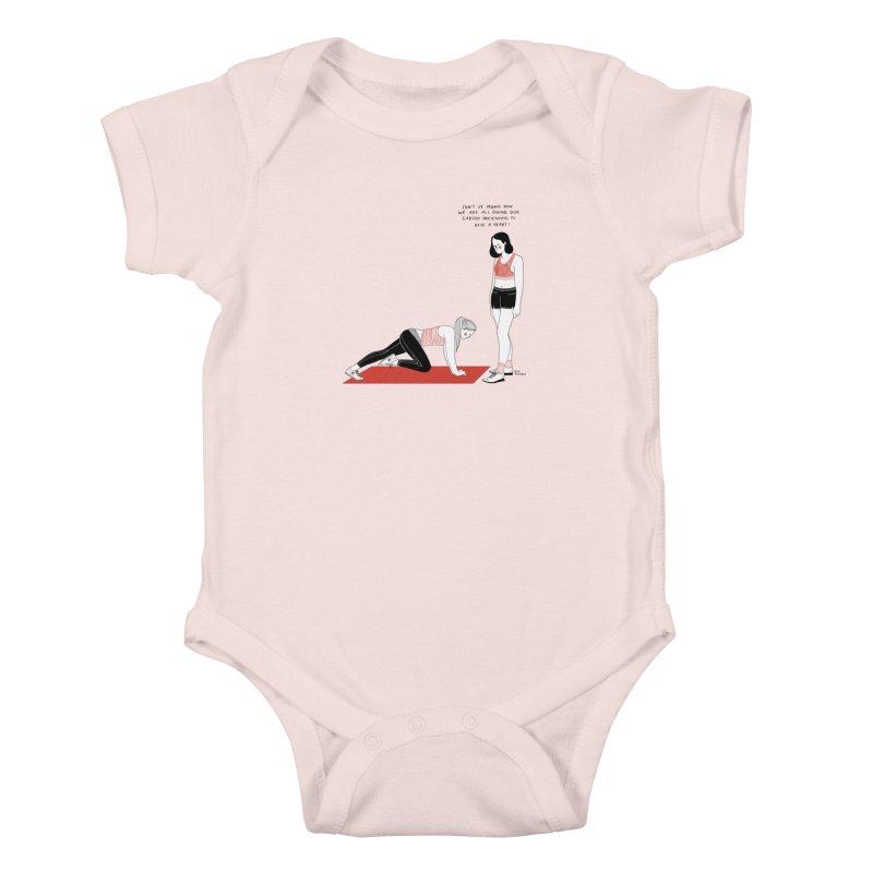 Heartless Cardio Kids Baby Bodysuit by juliabernhard's Artist Shop