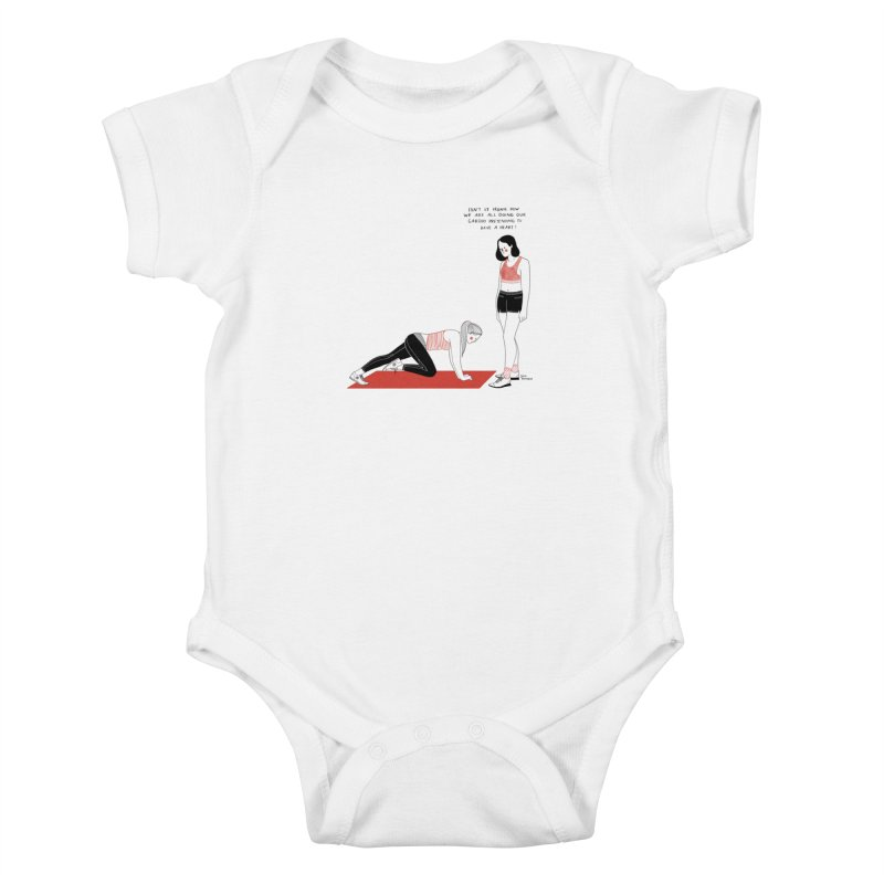 Heartless Cardio Kids Baby Bodysuit by Julia Bernhard