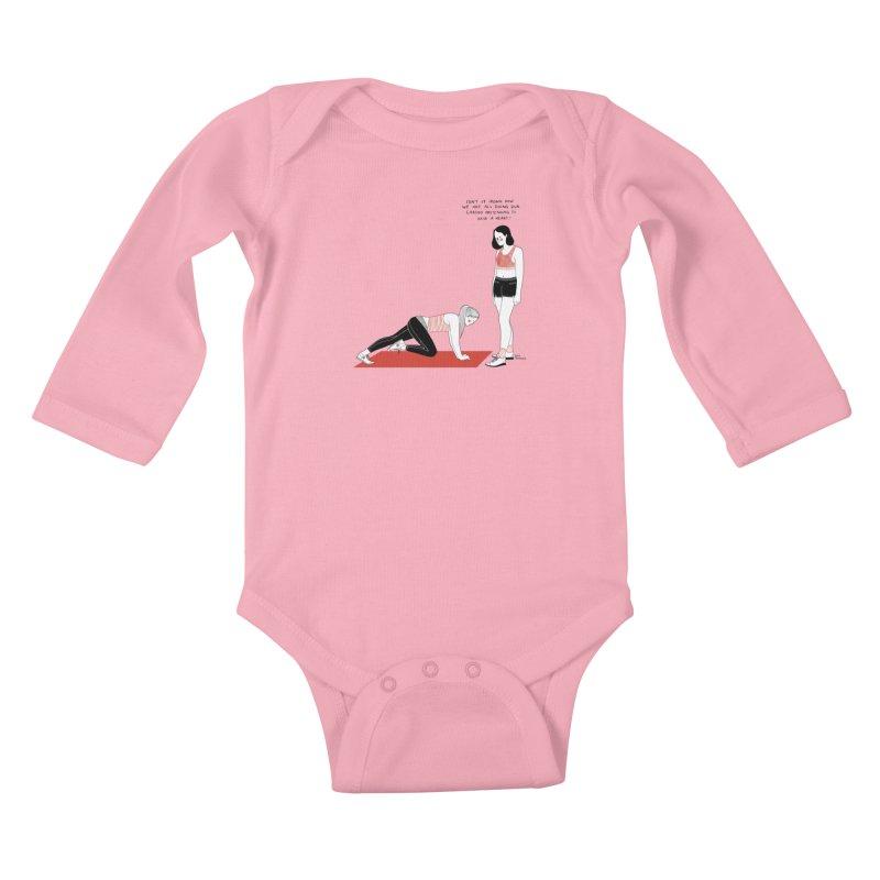 Heartless Cardio Kids Baby Longsleeve Bodysuit by Julia Bernhard