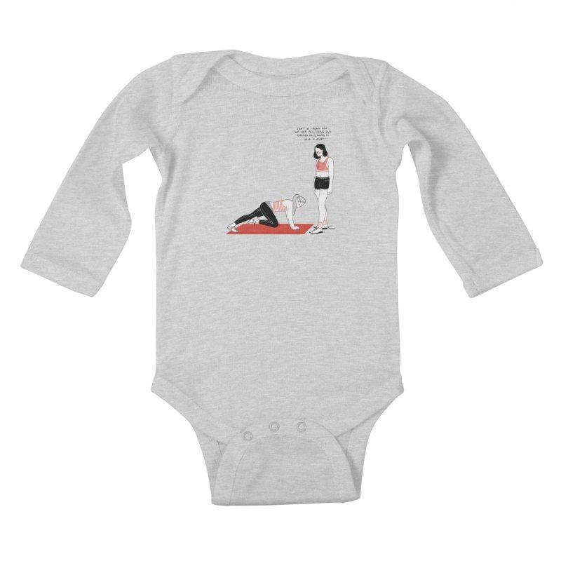 Heartless Cardio Kids Baby Longsleeve Bodysuit by juliabernhard's Artist Shop