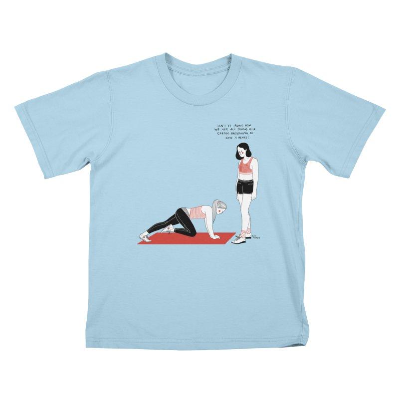 Heartless Cardio Kids T-Shirt by juliabernhard's Artist Shop