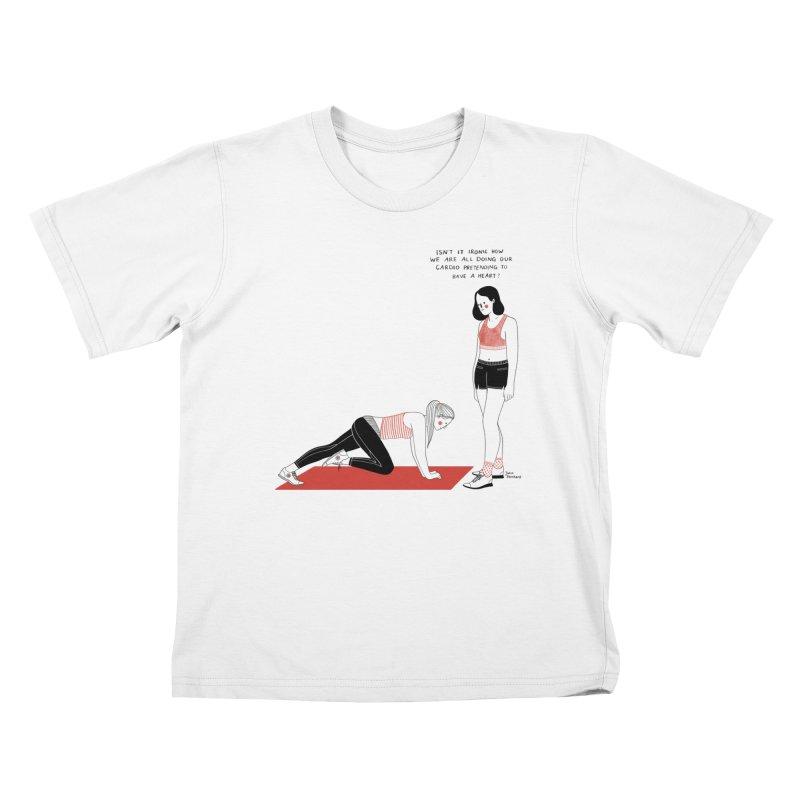 Heartless Cardio Kids T-Shirt by Julia Bernhard