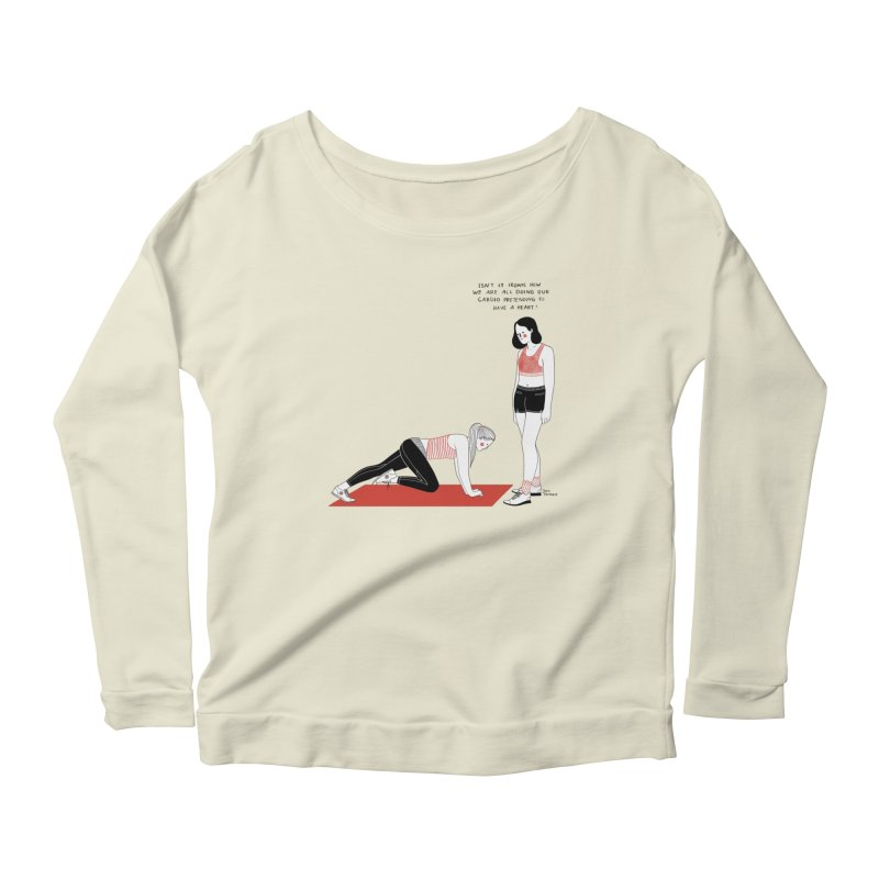 Heartless Cardio Women's Scoop Neck Longsleeve T-Shirt by juliabernhard's Artist Shop