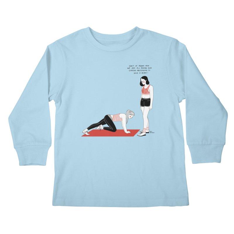 Heartless Cardio Kids Longsleeve T-Shirt by Julia Bernhard